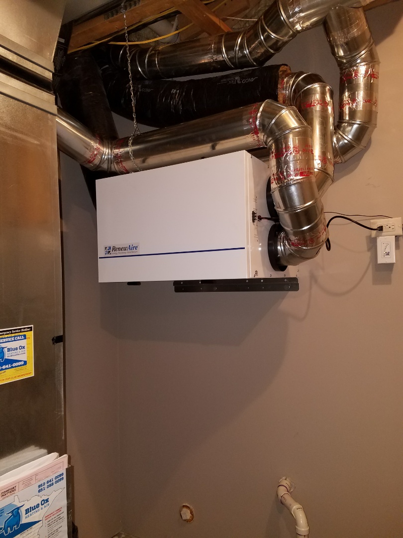 Eden Prairie, MN - Install Renewaire energy Recovery Ventilator