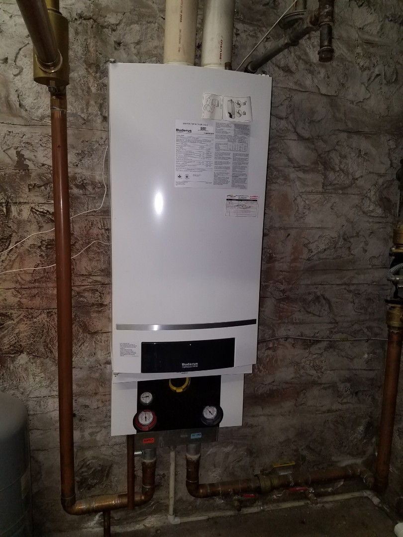 Loretto, MN - Boiler service. Installed an ignition assembly on a Buderus boiler.