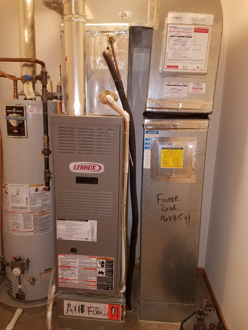 Elk River, MN - Lennox furnace tune up and clean.  Replacement  flame safety sensor