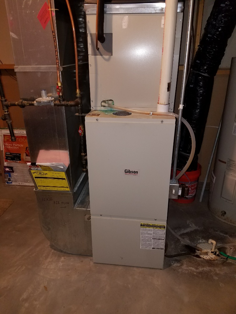 Otsego, MN - Gibson furnace tune up and clean.  Pull and clean blower wheel and housing