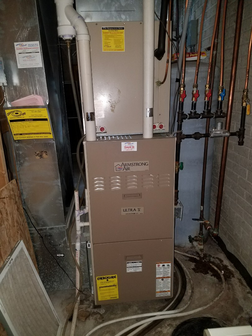 Loretto, MN - Armstrong air furnace tune up and clean.  Venmar air exchanger tune up and clean