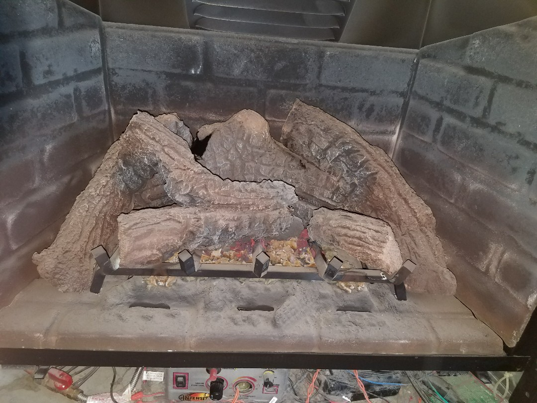 Monticello, MN - Fireplace clean and tune up on Heat n Glo unit in buffalo