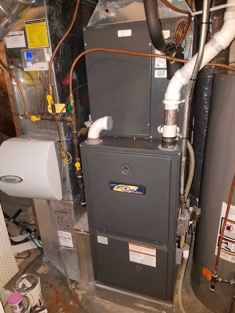Dayton, MN - Furnace cleaning and tune up on a Comfort Matters unit