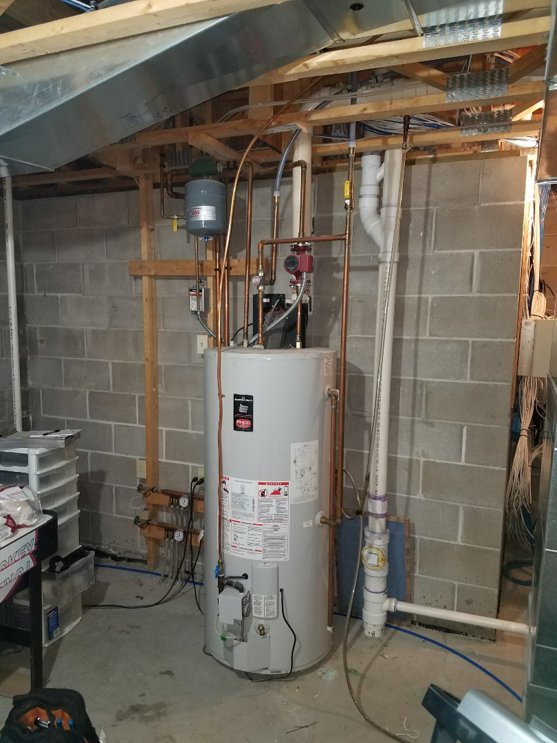 Loretto, MN - Water heater service. Diagnosed a failed T&P valve and failing motor on a Bradford White combicore water heater.