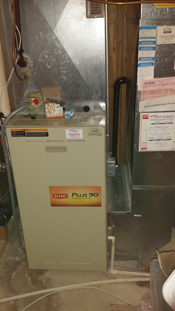 Albertville, MN - Furnace tune up on 90+% Bryant unit in Plymouth