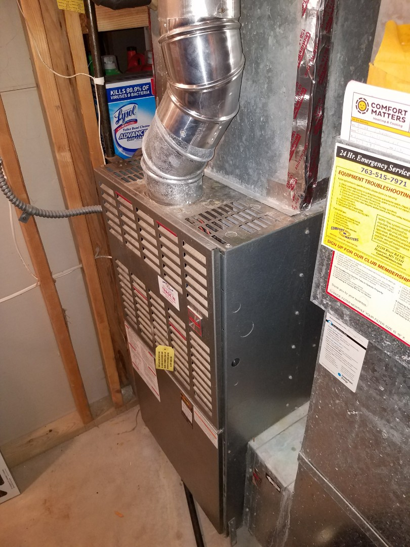 Albertville, MN - Furnace tune up on 80% Bryant unit in St. Louis Park
