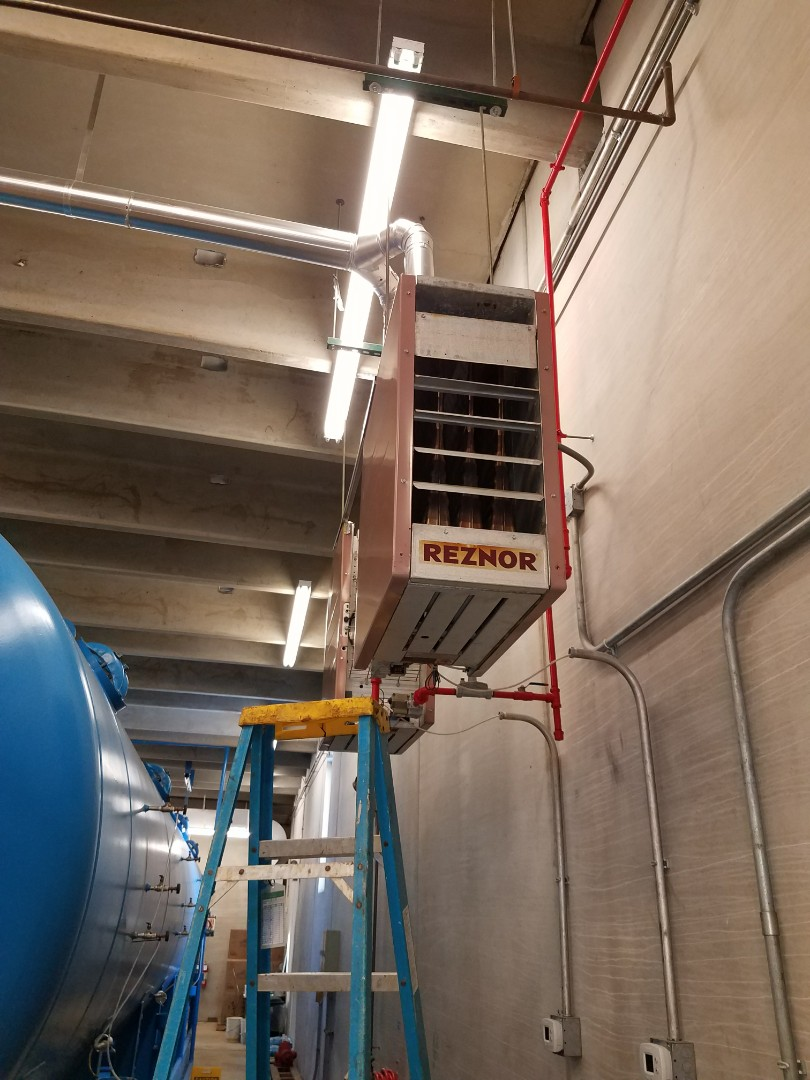 Albertville, MN - Replaced fan motor on Reznor unit heater in Albertville