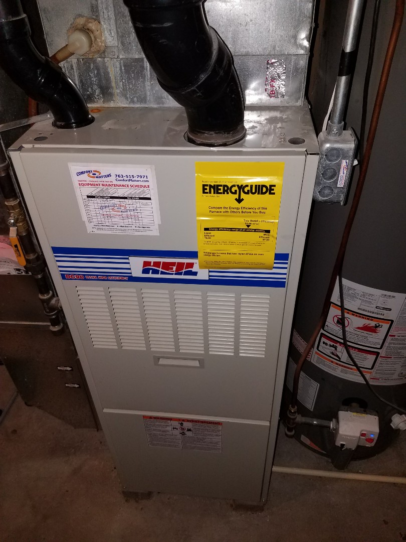 Albertville, MN - Furnace tune up on 90+% Heil unit in Buffalo