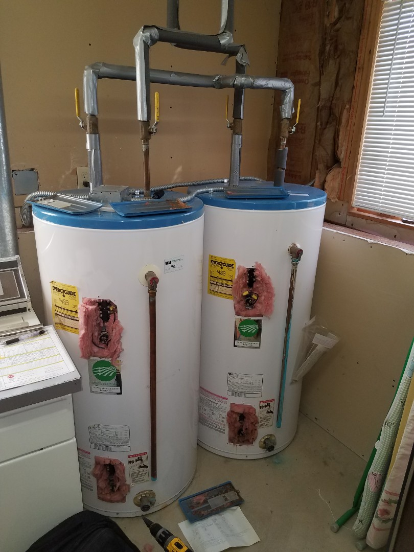 Buffalo, MN - Found thermostats on water heaters overheating. Water heaters are very old. Recommended replacement