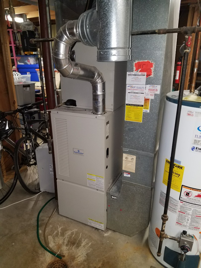 Osseo, MN - Heating service. Diagnosed a failed heat exchanger on a Kelvinator furnace.