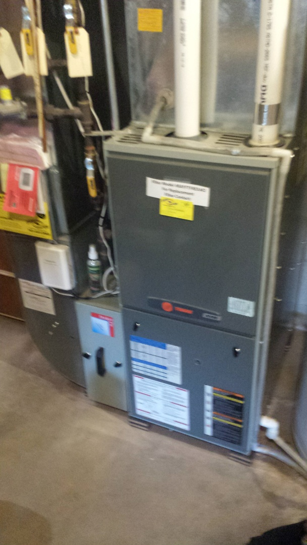 Maple Grove, MN - No heat call on trane furnace in minnetonka. Found roll out switch open on furnace. Corrected issue and furnace now runs normal.