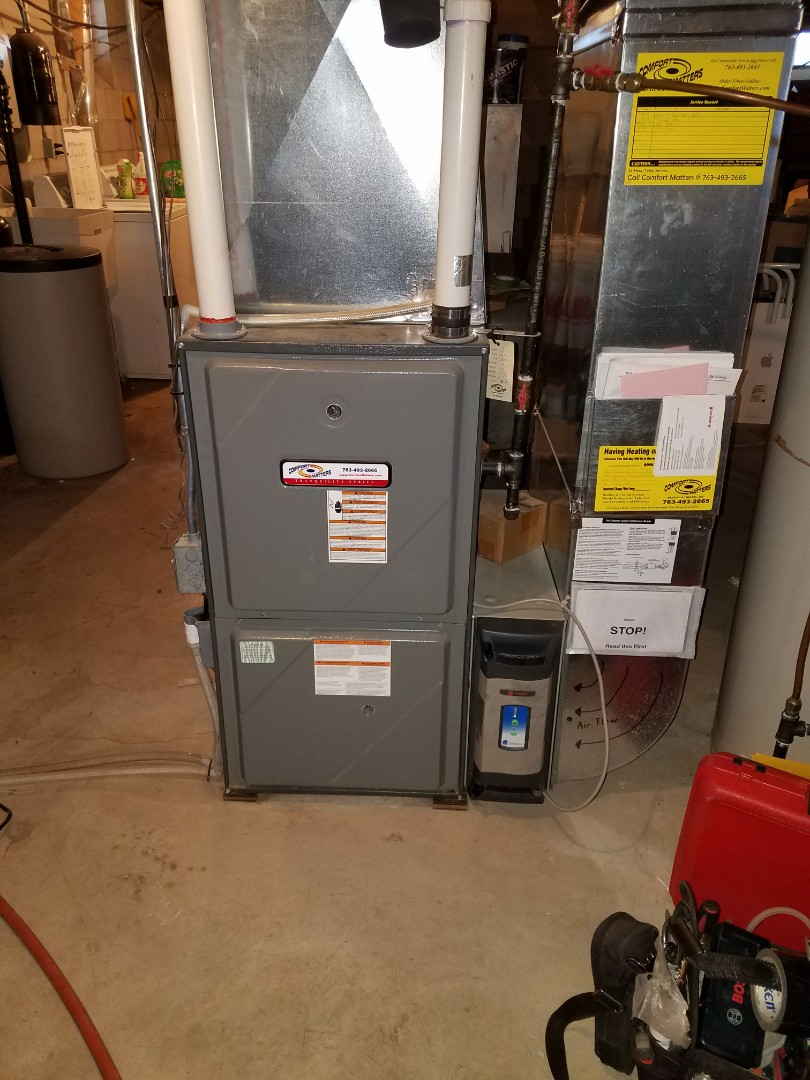 Corcoran, MN - Comfort Matters annual furnace tune up and clean. Lp fuel