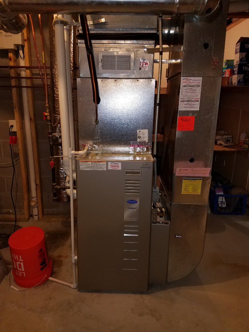 Monticello, MN - Carrier furnace new blower motor, furnace tune up, and air exchanger tune up