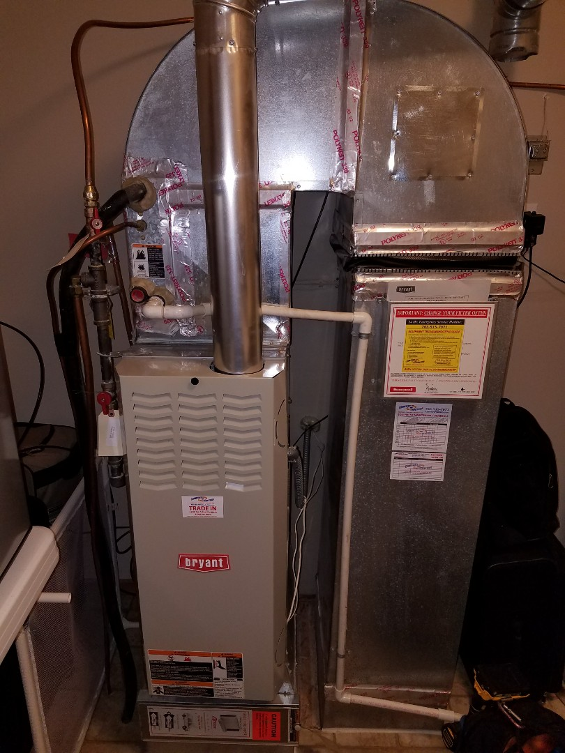 Hanover, MN - Heating service. Installed a flame sensor on a Bryant furnace.