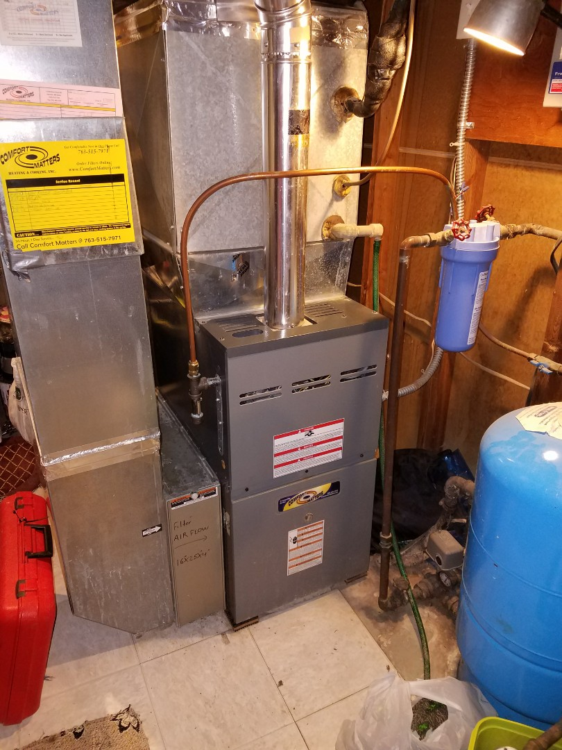 Corcoran, MN - Comfort Matters annual furnace tune up and clean
