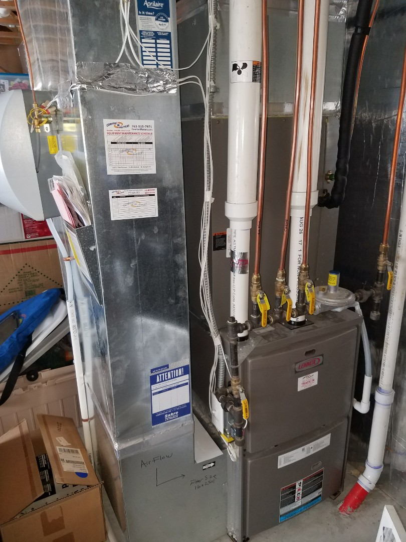 Maple Grove, MN - Furnace tune up on 90+% Lennox unit in Maple Grove