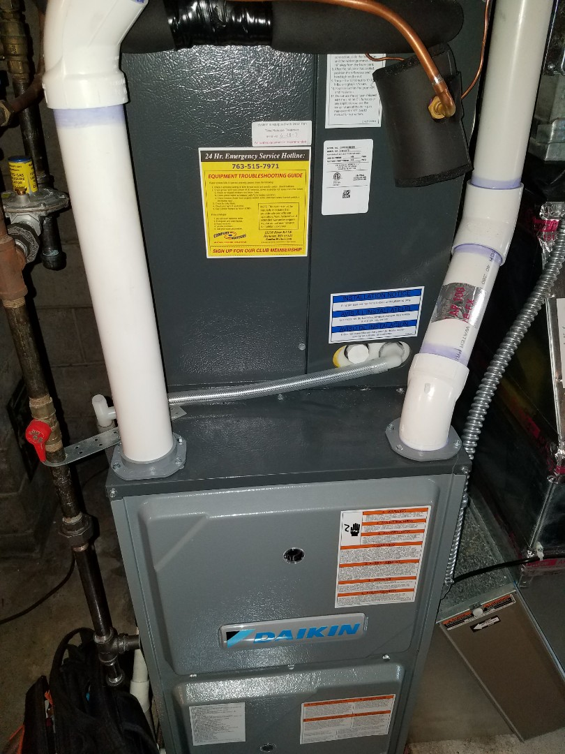 Corcoran, MN - Furnace tune up on 96% Daikin unit in Rogers.