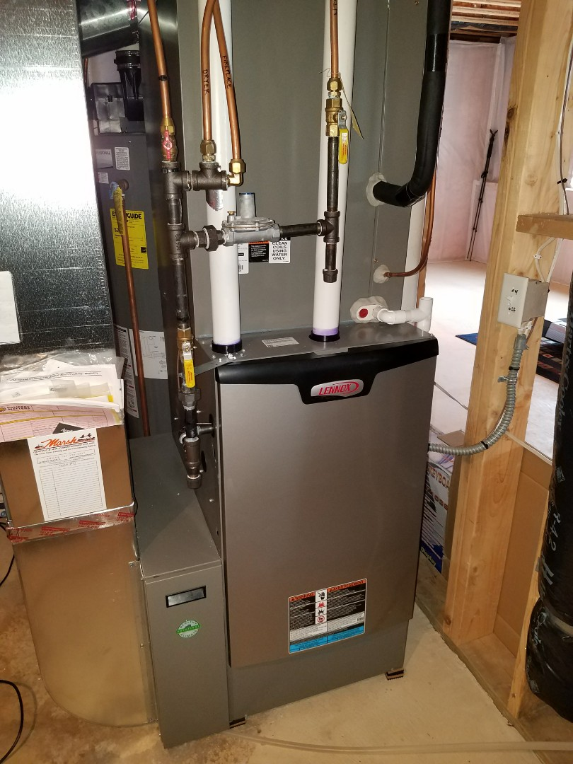 Osseo, MN - Furnace tune up on 90+% Lennox unit in Maple Grove.