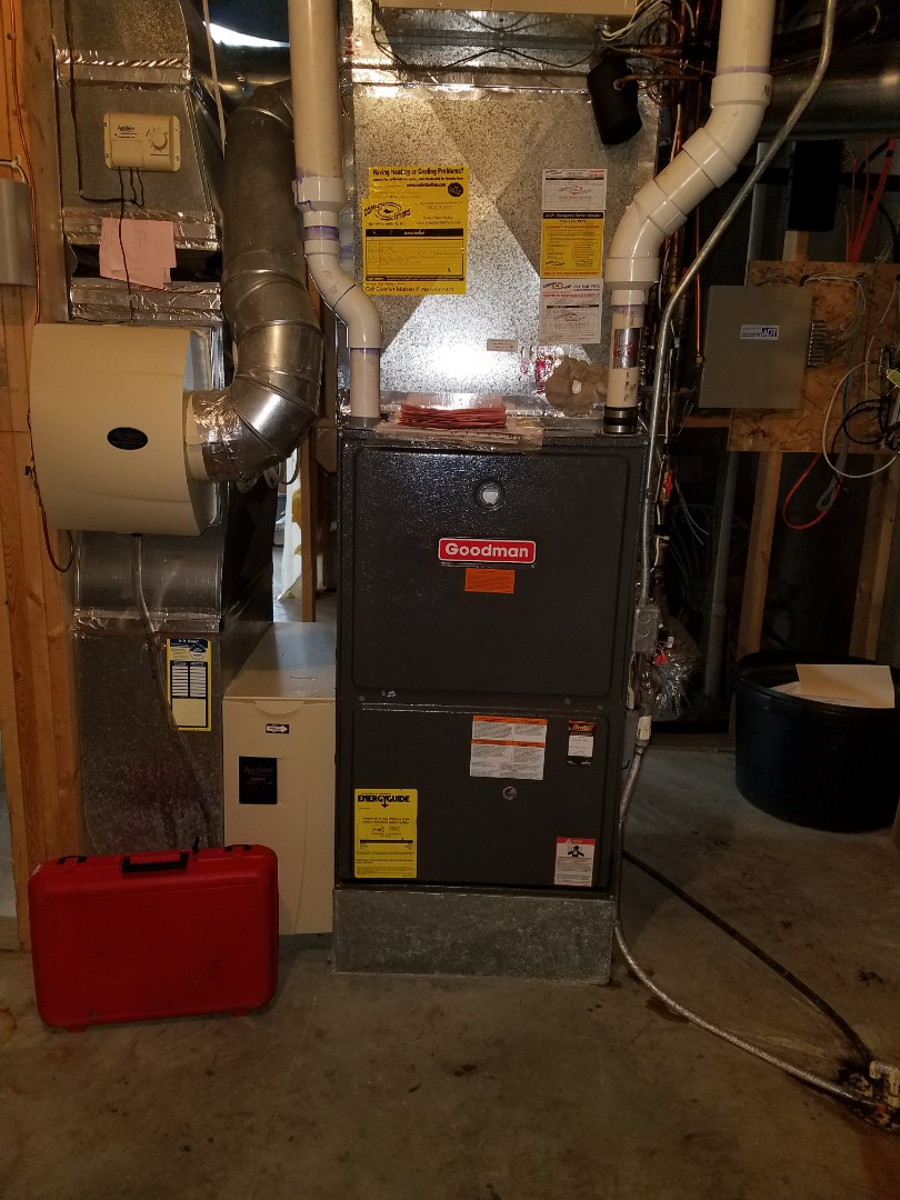 Rockford, MN - Goodman furnace tune up and clean. New furnace filter