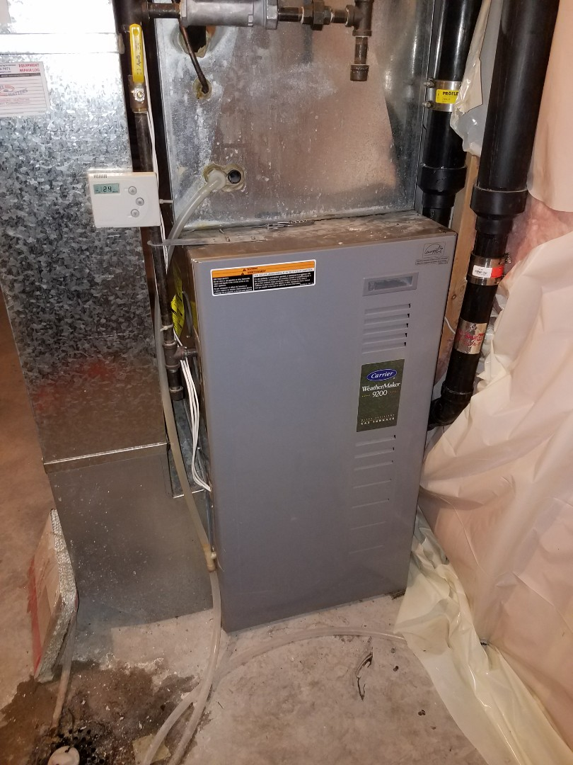 Maple Grove, MN - Furnace tune up on 90+% carrier unit in Maple Grove