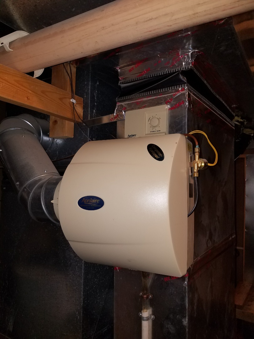 Maple Grove, MN - Heating service. Performed a cleaning and tune up on a Bryant furnace. Also performed a wiring repair on an Aprilaire humidistat on an Aprilaire humidifier.