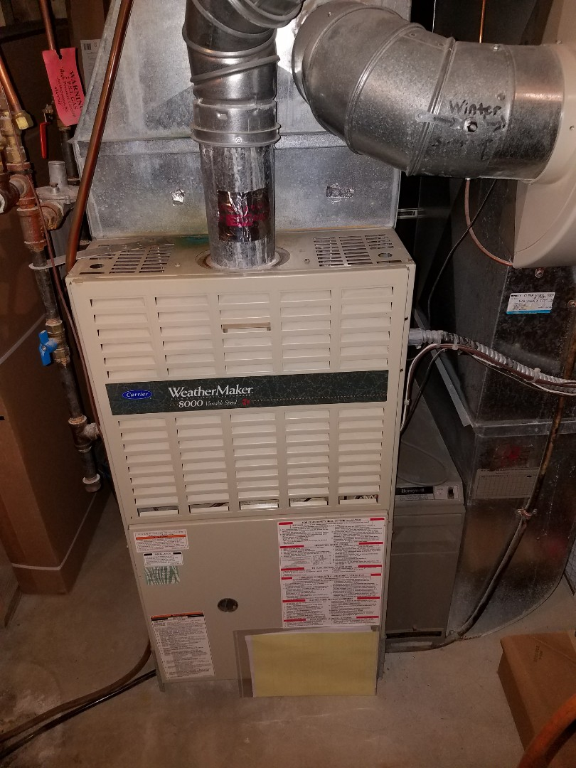 Maple Grove, MN - Furnace tune up on 80% Carrier unit in Maple Grove