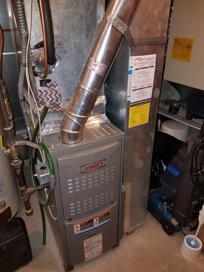 Elk River, MN - Performed tune up and cleaning on Lennox furnace