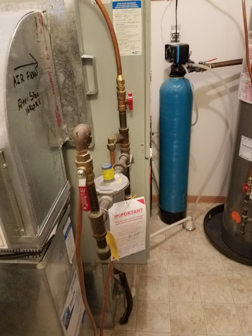 Maple Grove, MN - Found cracked heat exchanger on 80% Bryant furnace in Maple Grove. Red tagged due to unsafe operation, replacement options in place.