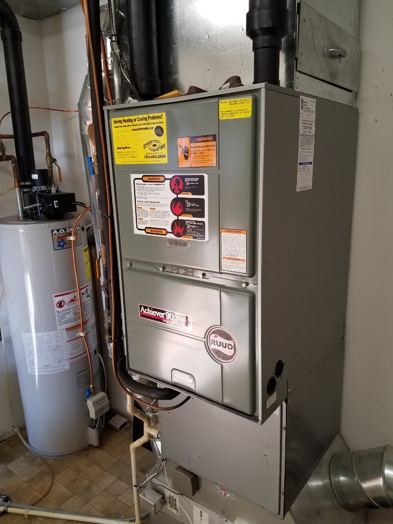 Big Lake, MN - Furnace tune up on 90% Ruud unit in Big Lake