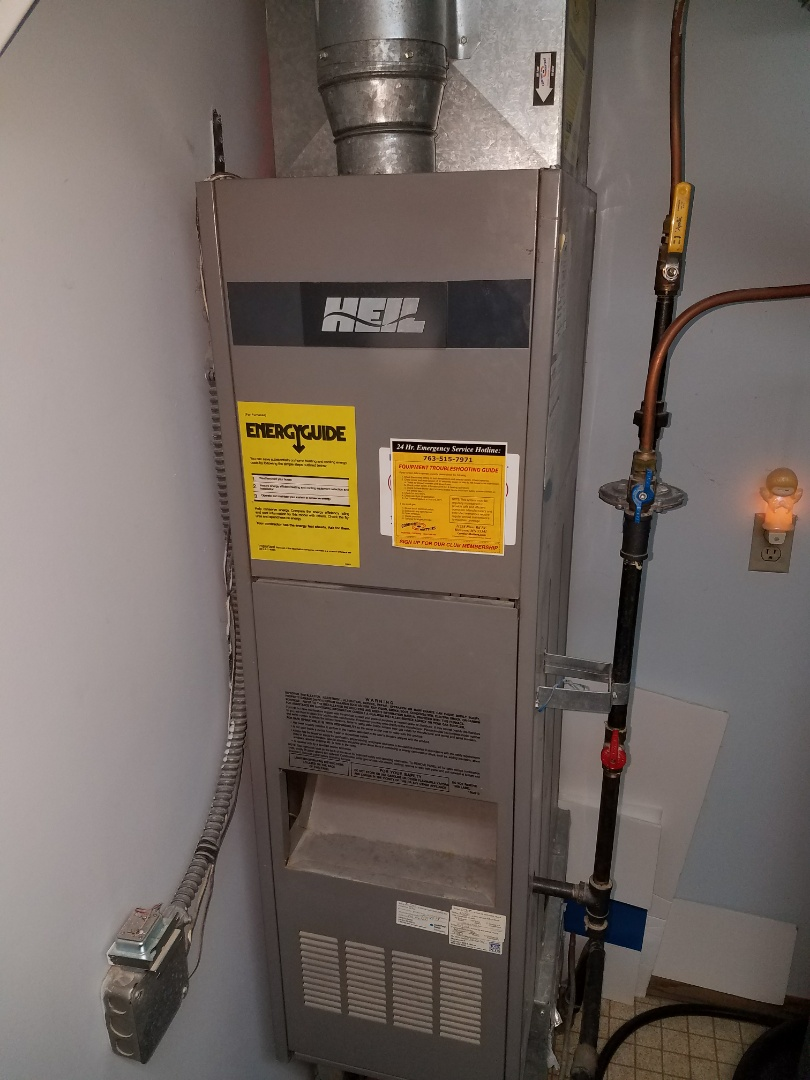 Coon Rapids, MN - Furnace cleaning and tune up on a Heil