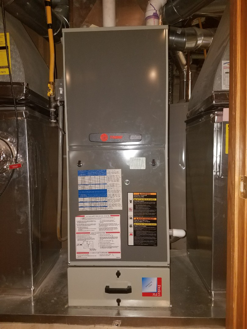 Coon Rapids, MN - Furnace cleaning and tune up on a Trane