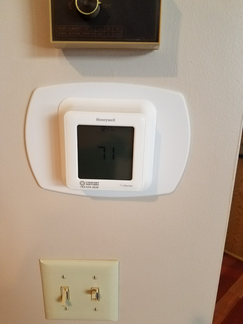 Maple Grove, MN - Installed Wi-Fi thermostat in Maple Grove