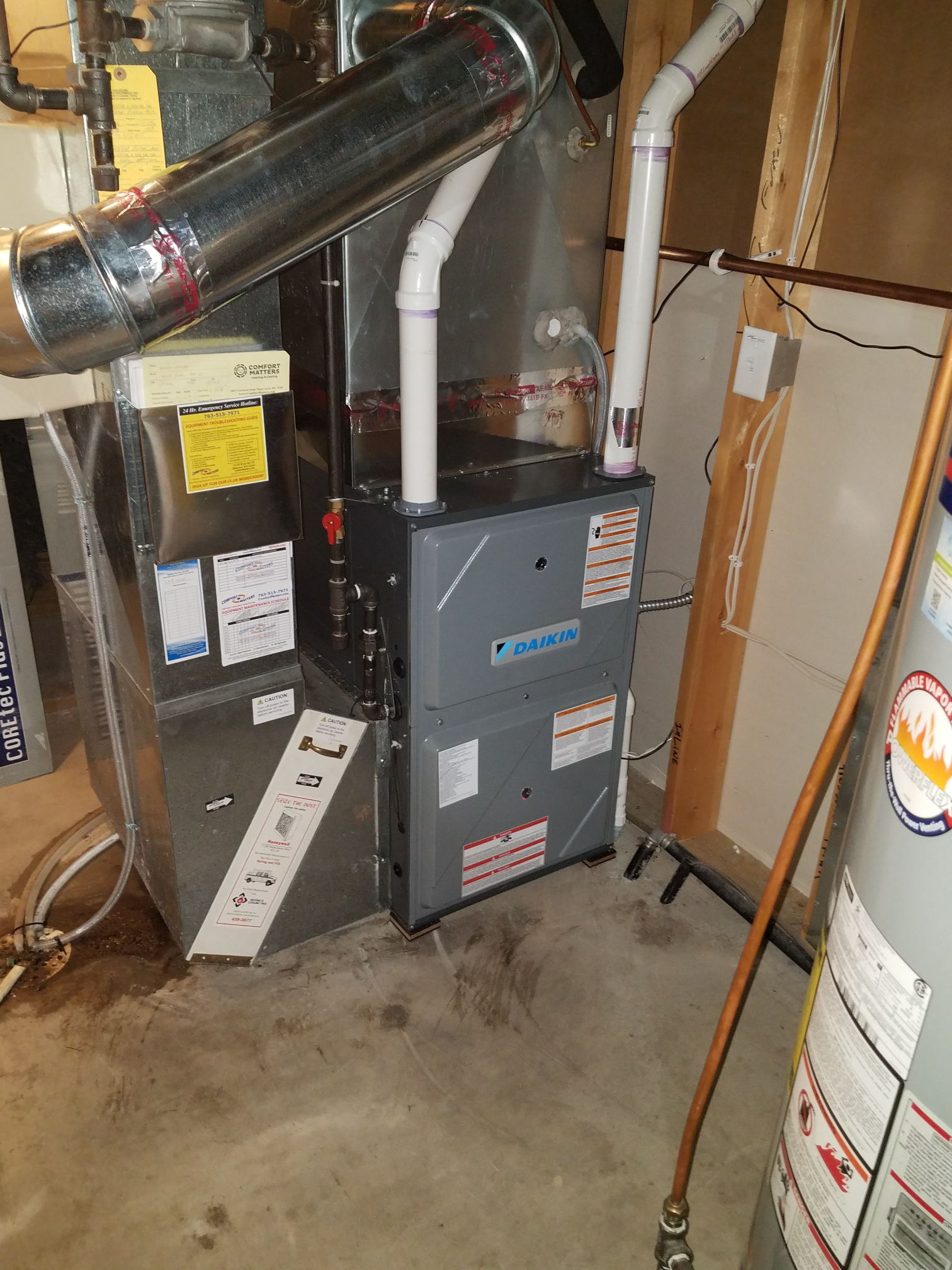 Osseo, MN - Installed Daikin furnace and air conditioner