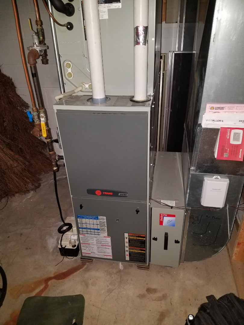 Minneapolis, MN - Furnace tune up on 90+% efficient trane unit in Brooklyn park