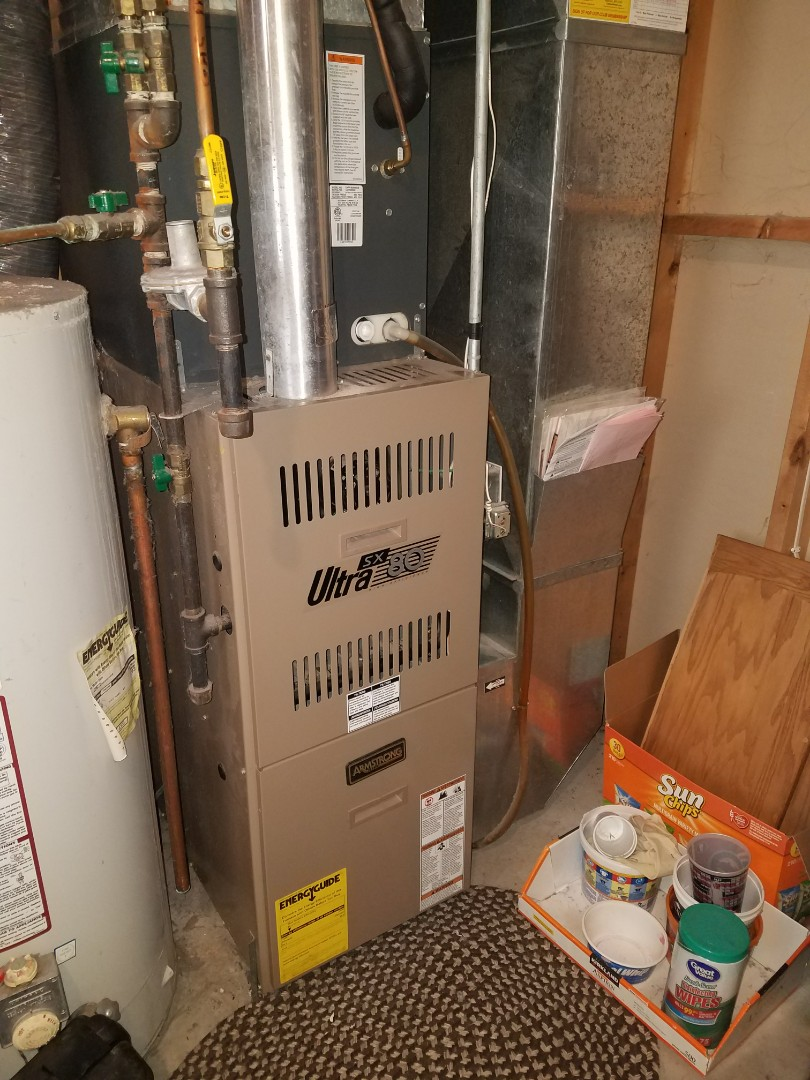 Ramsey, MN - Performed tune up and cleaning on Armstrong furnace