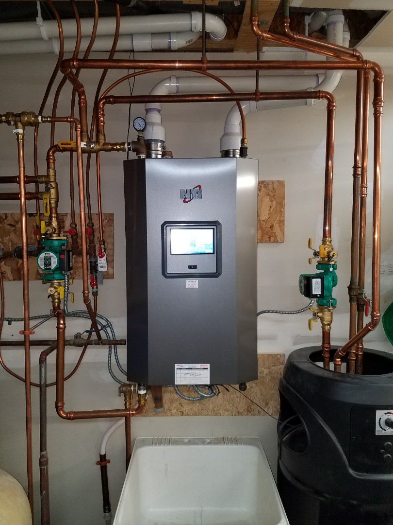Loretto, MN - NTI Trinity boiler repair. Warranty display screen