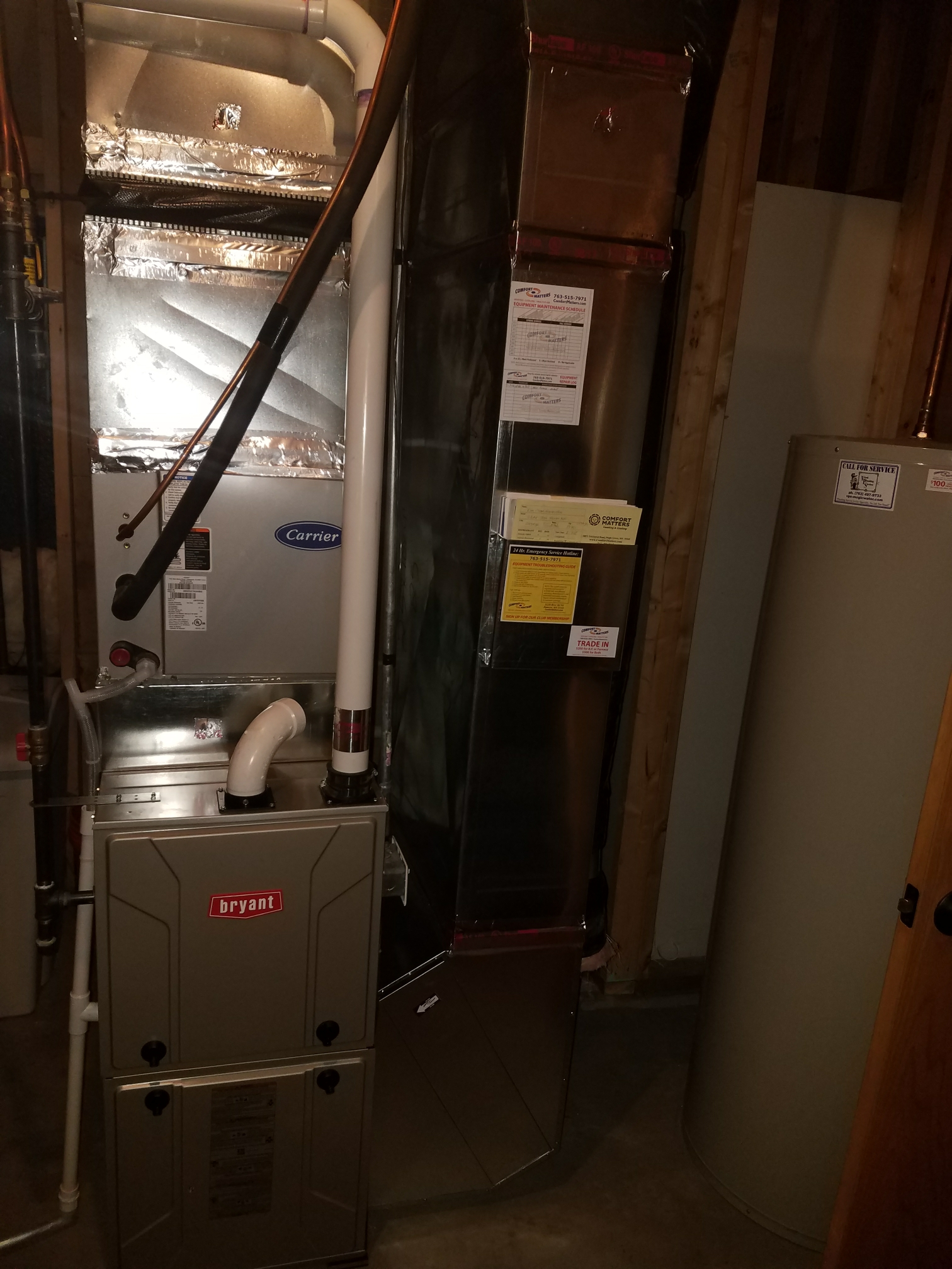 Maple Grove, MN - Install Bryant furnace under warranty due to plugged secondary heat exchanger
