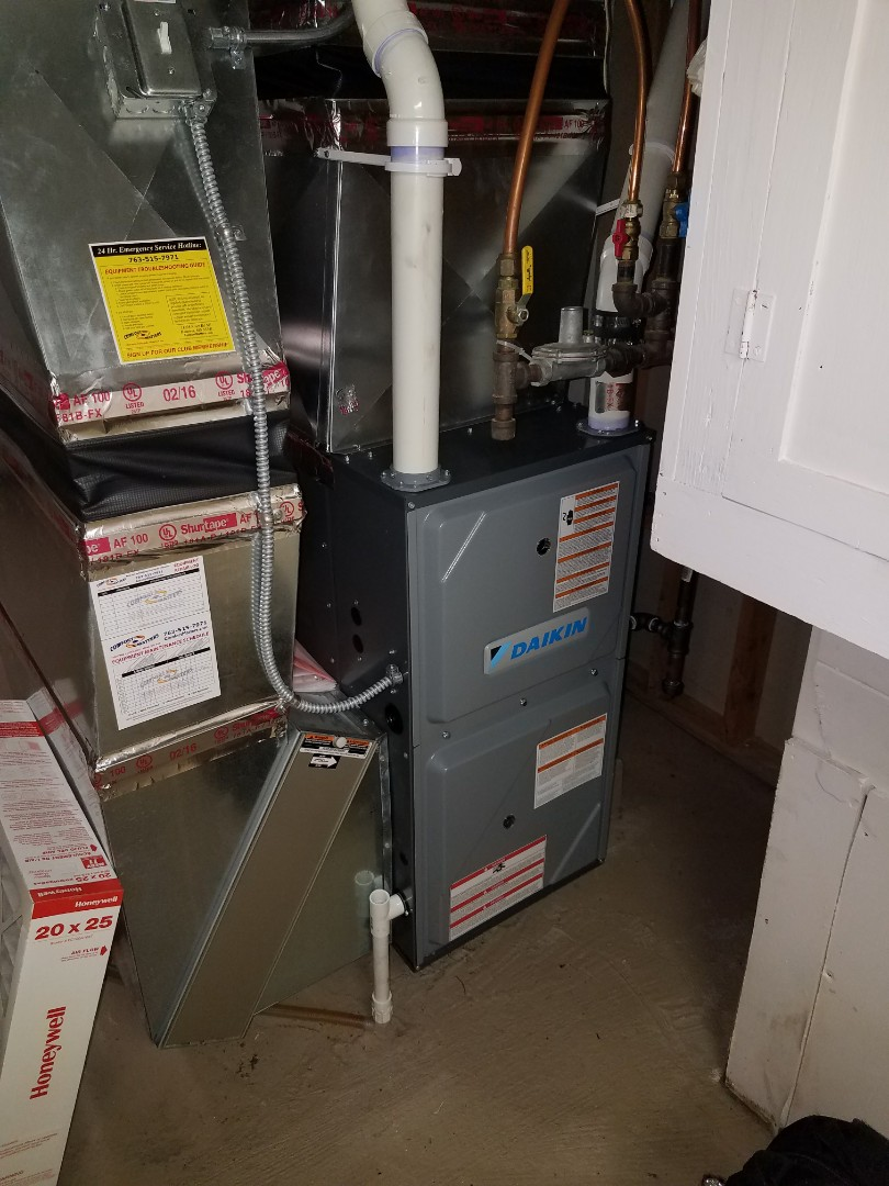 Coon Rapids, MN - Furnace tune up on 96% efficient Daikin unit in Champlin