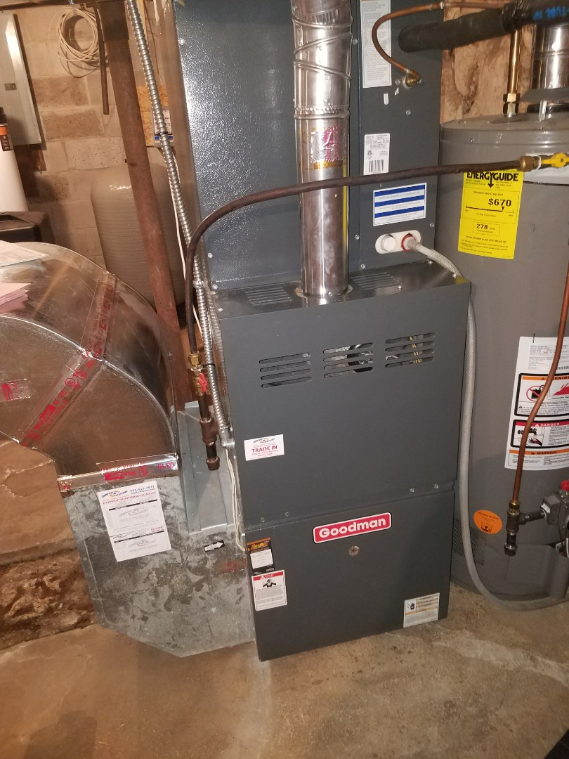 Coon Rapids, MN - Furnace tune up on 80% Goodman unit in Corcoran