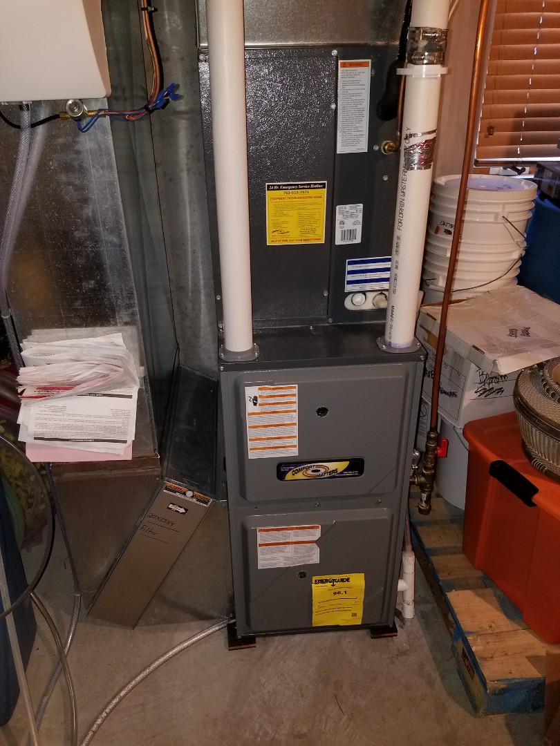 Coon Rapids, MN - Furnace tune up on 97% Goodman unit in Maple Grove