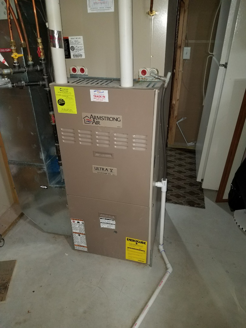 Coon Rapids, MN - Furnace tune up on 90% Armstrong unit in Albertville