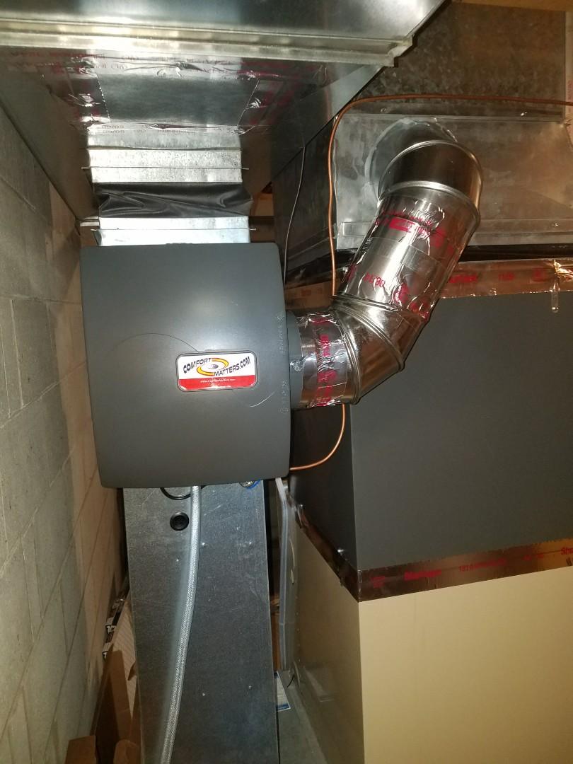 Plymouth, MN - Humidifer install