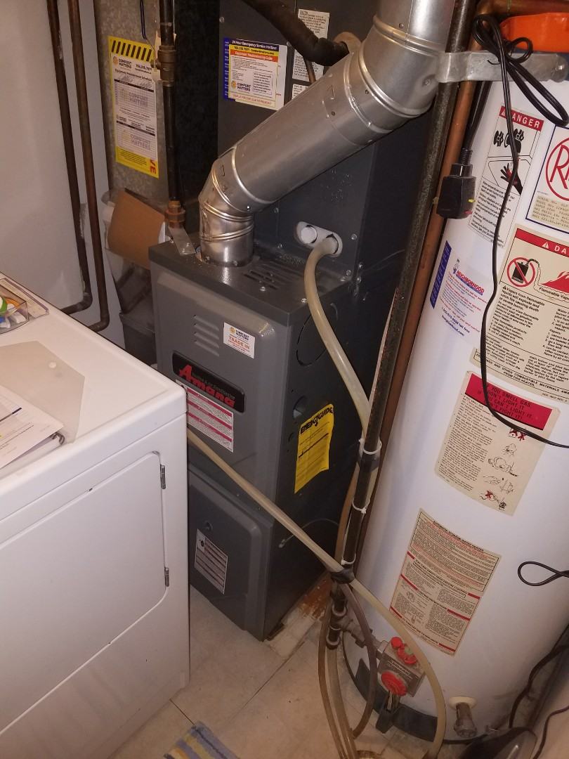 Rogers, MN - Heating service. Installed  a main flame safety sensor on an Amana furnace.