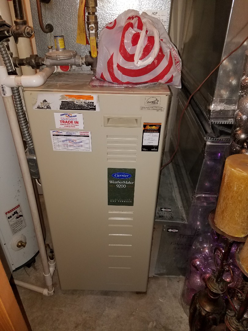 Osseo, MN - Carrier furnace issue. Clean blower wheel and replace ignition system