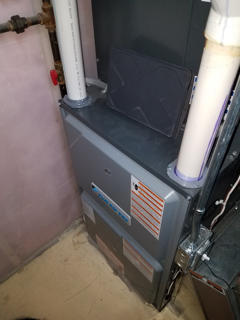 Otsego, MN - Furnace tune up on 9u% Daikin unit in Albertville