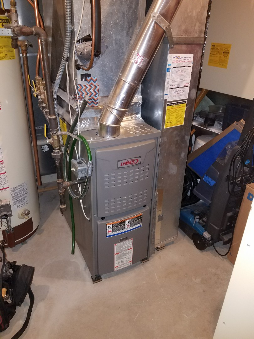 Elk River, MN - Lennox furnace, no heat. Changed primary flame safety under warranty