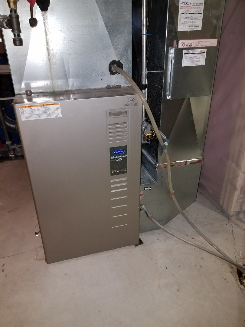 Corcoran, MN - Furnace cleaning and tune up on a Carrier
