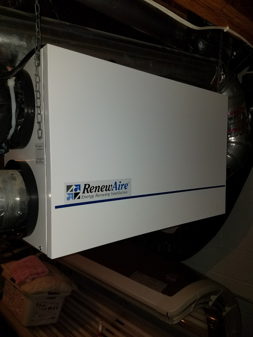 Buffalo, MN - Install of a RenewAire HRV