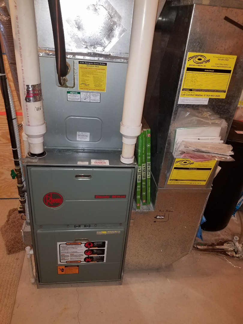 Hanover, MN - Furnace cleaning and tune up on a Rheem
