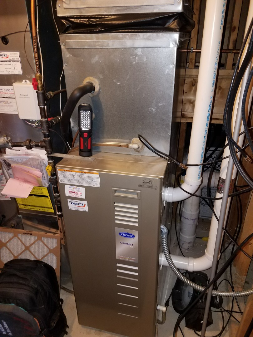 Otsego, MN - Furnace tune up on 90+% carrier unit in monticello